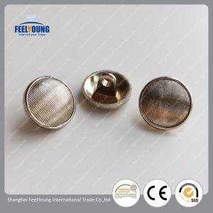 Color plata Cheapsmall moda Mango de metal botones personalizados para la ropa