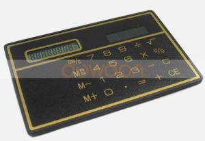 8つのディジット超薄く細い小型クレジットカードデザイン太陽エネルギーのポケット電卓