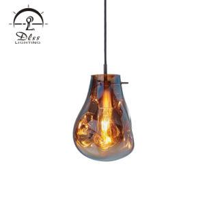 Dekoratives Raum-bernsteinfarbiges Glasprojekt-moderne hängende Lampe