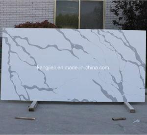 Recomposée dalles de quartz Calacatta Quartz Kzs610
