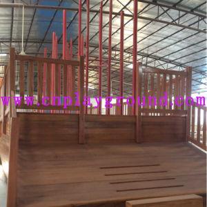 Campo da giuoco di legno della nave di pirata del parco di divertimenti con la trasparenza ed il grande scalatore (HF-5401)