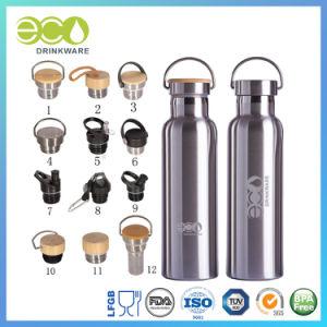 600ml/20oz en el Stock de bambú de doble pared frasco vacío de la tapa de acero inoxidable Vaso térmico