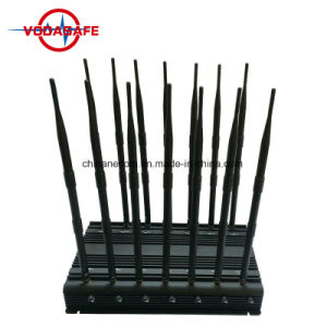 Stationaire 14 Banden 2g, 3G, 4gcell Telefoon, GPS, WiFi, VHF, UHF, 4G, 315, 433, Lojack Stoorzender /Blocker; Allen in Één Stoorzender/Blocker met 14 Banden