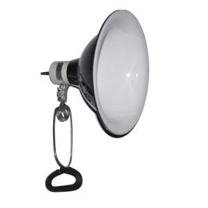 VDE UL Lâmpada da Braçadeira da Luz de PET de répteis com 8,5'' reflector de alumínio