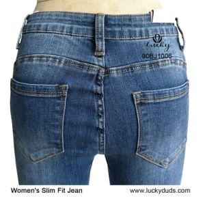 O denim azul a granel jeans Skinny Jeans Mulheres
