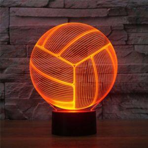 Van 3D LEIDENE van het volleyball het Licht Nacht van de Optische illusie met de Veranderende Aanraking van 7 Kleur