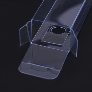 PVCプラスチックギフトの箱の包装のパッケージ透過ボックス