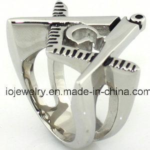 De Ring van de Juwelen van het Roestvrij staal van de Juwelen van de Metselaar van Csutom 316L