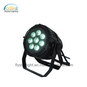DJ Bar 8PCS RGBWA 15W de luz PAR LED exterior impermeable