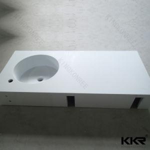 普及した現代固体表面の虚栄心の流しの統合された洗面器