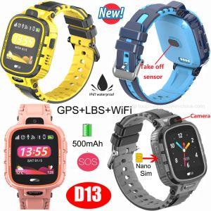 500mAh Impermeable IP67 Smart Tracker GPS reloj con alarma de extracción