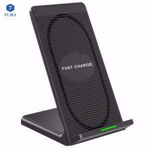 2018 новейший портативный беспроводной связи стандарта Qi зарядное устройство для быстрой зарядки мобильного телефона колодок плиты зарядное устройство для iPhone для Samsung