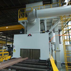 중국은 세륨 & ISO 탄 폭파 기계 생산자 - Mayflay를 유형 탄 폭파 기계를 통해서 최신 판매 롤러 갱도 통과했다
