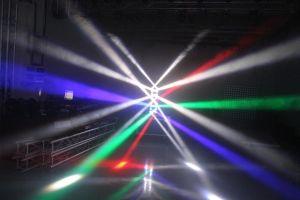 DJのためのLEDのくもの軽い移動ヘッドライト