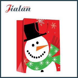 Le luxe un emballage cadeau de Noël de mode fourre-tout des sacs en papier commercial de la poignée