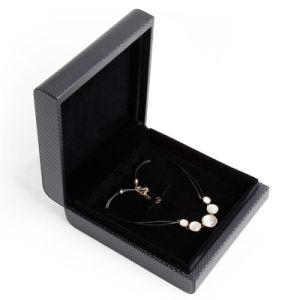 호화스러운 반지와 목걸이 보석 서류상 포장 선물 상자