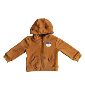 Chaqueta de lana para niños con capucha cremallera Spandex felpa