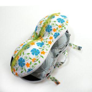 꽃 패턴 온라인 도매를 가진 단단한 EVA 여행 브래지어 부대