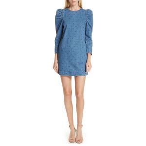Bleu Mesdames laine robe  custom