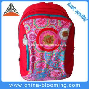 Meninas de poliéster vermelho Papelaria mochila escolar do aluno com saco de carvão