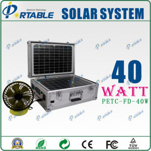 Système d'alimentation solaire 40W pour l'éclairage et de la maison l'appareil (PETC-FD-40W)