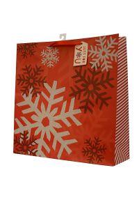 Sacco di carta della stagnola con i colori di natale & il disegno, sacchetto di carta del regalo, sacchetto di carta del regalo di Chirstmas, sacco di carta di arte con le maniglie di torsione