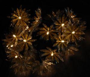 Indicatore luminoso dorato brillante della decorazione del loto