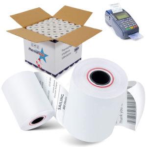 El blanco puro Premium POS rollos de papel de recepción térmica papel 80x80mm, 57x50mm Caja Registradora Rollo de papel térmico