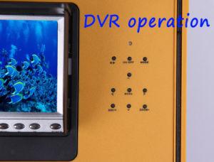 7'' de la pantalla de grabación de vídeo digital DVR cámara subacuática 7