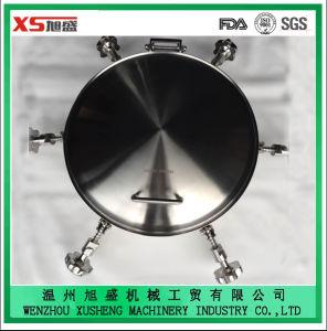 En acier inoxydable AISI304 vers l'extérieur de qualité alimentaire ovale plaque d'égout de pression