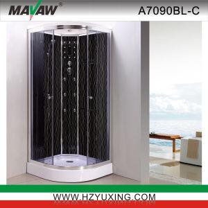 Bajo la bandeja con cabina de ducha de vidrio posterior chapado en la película