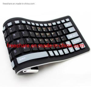 Flexível e linguagem OEM impermeável dobrável de Silicone USB Teclado Sem Fio