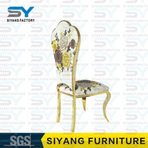Restaurante Cadeira de Jantar Móveis Cadeira de Aço Inoxidável Cadeiras de jantar de tecido