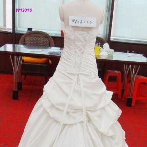 Herrliches 3D blüht und wulstiges Mieder Multi-Faltet Hochzeits-Kleid