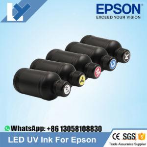 5 botellas de tinta UV LED para Epson 1390 1400 1410 1430 1500 W R280 R290 R330, L800 L1800 impresora LED UV (BK C M Y BLANCO)
