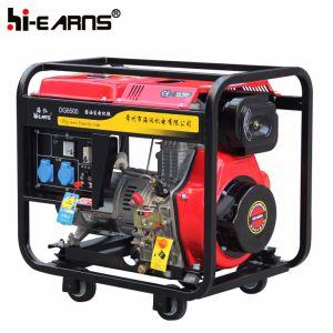 Tipo de estrutura aberta Air-Cooled gerador diesel Recoil iniciar (DG6000)