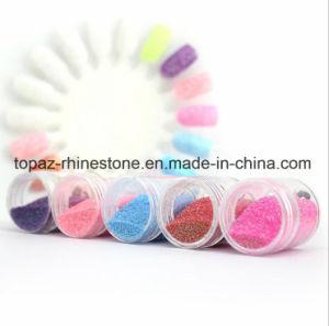 Kits de arco-íris de cores de gradiente de unhas falsas 5 tamanhos de pó Giltter Pre-Glue Prima sobre dicas de unhas falsas para Kits Meninas (NR-39)