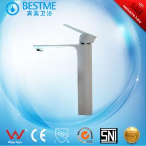 デッキによって取付けられる白いカラー単一のレバーの洗面器のコック(BM-A10025W)