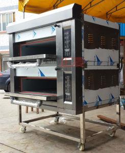 Dubbel Dek 4 Dienbladen die de Oven van het Gas van het Brood voor Verkoop (zmc-204M) bakken