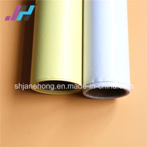 Matériau de film de plastification à froid en PVC avec du papier de chemise blanche