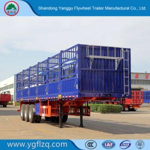 3 de Semi Aanhangwagen van de Staak van het Type van Omheining van assen Fuhua/BPW voor Vervoer van de Lading stortgoed