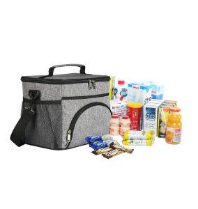 Gray pique-nique déjeuner thermique du refroidisseur d'fourre-tout sac de livraison de nourriture