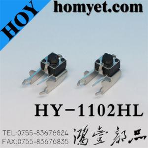Il foro diretto ad angolo retto caldo di vendita 6*6mm passa l'interruttore di tatto (HY-1102HF)