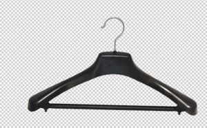 De plastic Zwarte Staaf van de Broek van de Hanger van de Doek voor Hanger van de Haak van de Draad van Lagen de Multifunctionele