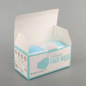 Máscara facial de 3 Camadas descartáveis com pó de adultos Beathble Earloop, Máscara de segurança