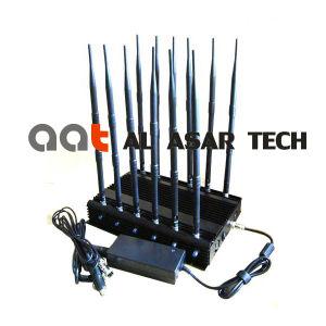 Stoorzender van het Signaal Cellphone/GPS/WiFi van de macht de Regelbare Krachtige, de Mobiele Stoorzender van het Signaal van de Telefoon/Blocker van het Signaal