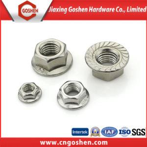 La norme DIN 6923 Steeel inox 304 L'écrou à embase hexagonale de