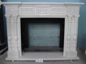 Afdekplaat van de Steen van de Open haard van het Beeldhouwwerk van China de Witte Marmeren