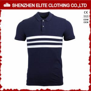 Camicia di polo del Mens dell'azzurro di blu marino di disegno di modo di alta qualità (ELTPSI-41)