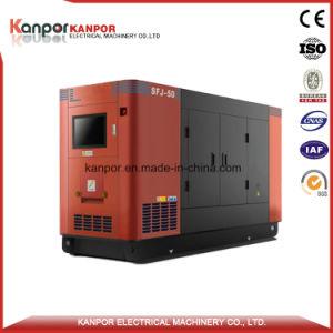 625kVA 500kw Doosan 방음 침묵하는 디젤 엔진 전기 발전기 세트